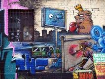 надпись на стенах berlin медведя Стоковое фото RF