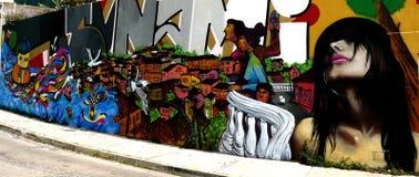 надпись на стенах valparaiso Чили Стоковая Фотография RF