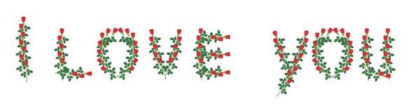 Надпись от роз Стоковые Фото