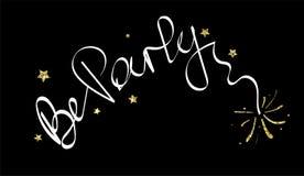 Надпись партии Черный текст предпосылки и каллиграфии Графический дизайн логотипа, знамени или плаката Белые слова и яркие блески иллюстрация штока