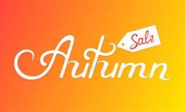 Надпись руки продажи осени Конструируйте элемент для знамени, плаката, скидки для сезонной продажи Бесплатная Иллюстрация