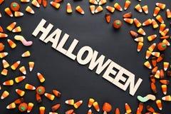 надпись halloween стоковое изображение rf