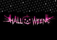 надпись halloween Стоковое фото RF