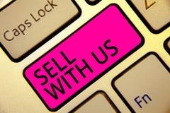 Надувательство показа знака текста с нами Платформа схематического фото онлайн продавая ища ключ пинка клавиатуры электронной ком стоковое изображение