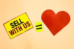 Надувательство сочинительства текста почерка с нами Концепция знача онлайн продавая платформу ища часть желтого цвета электронной стоковое изображение