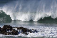 надутый ветер волны Стоковые Изображения