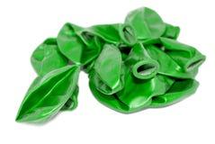 надутый зеленый цвет воздушных шаров не Стоковое Изображение RF