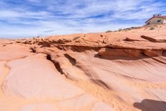 Над более низким каньоном антилопы стоковые изображения rf
