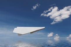 над бумажной плоской водой Стоковое фото RF