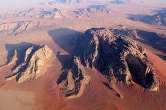 над вадями рома ландшафта пустыни Стоковые Изображения