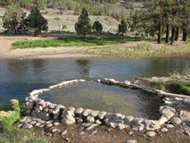 над веснами реки банка горячими естественными Стоковые Фото