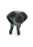 над взглядом Битник в куртке при клобук смотря вниз Стоковая Фотография