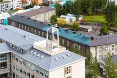 над взглядом жилого квартала в Reykjavik Стоковое Изображение