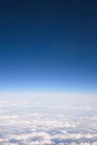 над взглядом облаков стоковое изображение rf
