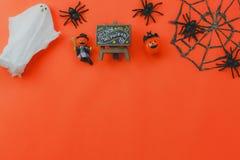 Над взглядом предпосылки фестиваля хеллоуина вспомогательного украшения счастливой Стоковые Фото