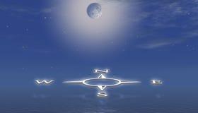 над водой компаса иллюстрация вектора