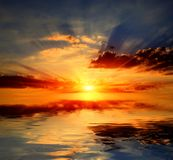 над водой солнечности Стоковое Фото