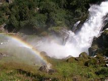 над водопадом радуги Стоковое Изображение