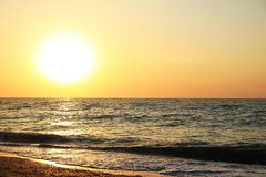 над восходом солнца моря Стоковые Фото
