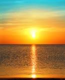 над восходом солнца моря Стоковая Фотография RF