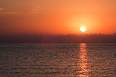 над восходом солнца моря Стоковое Изображение RF