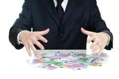 над деньгами рук Стоковая Фотография RF