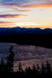 над долиной yellowstone захода солнца Стоковое Фото