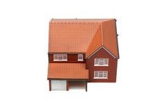 над домом изолированная модель стоковые изображения rf