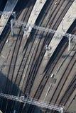 над железнодорожным осмотренным следом Стоковые Фотографии RF
