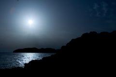 над заходом солнца восхода солнца моря Стоковые Фотографии RF