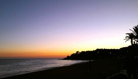 над заходом солнца моря Стоковое фото RF