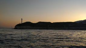 над заходом солнца моря стоковые фотографии rf