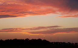 над заходом солнца Сиднеем Стоковое Изображение RF