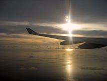 над заходом солнца Стоковая Фотография RF