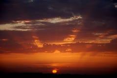 над заходом солнца sevastopol Стоковые Фотографии RF