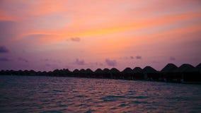 над индийским заходом солнца океана Стоковое фото RF