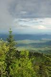 над Каролиной заволакивает горы северно Стоковое фото RF