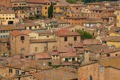 Над крышами старого города Италия siena Стоковое Фото