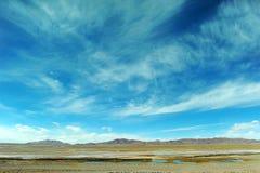 над небом плато облаков Стоковые Изображения RF