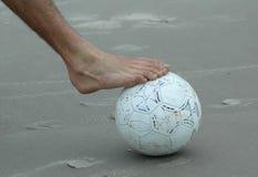 над ногой шарика Стоковые Изображения RF