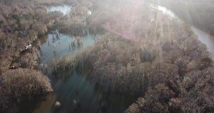 Над озером сток-видео
