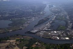 над Орегоном portland Стоковое фото RF
