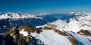 над панорамой lenzerheide стоковые изображения rf