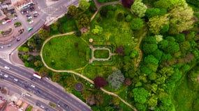 Над парком в Лондоне стоковые фотографии rf