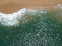 над пляжем Стоковая Фотография