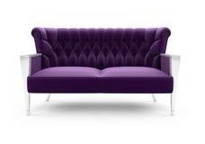 над пурпуровой белизной софы Стоковые Фото