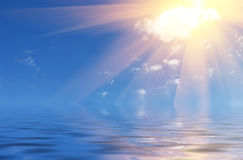 над солнцем моря Стоковые Фото
