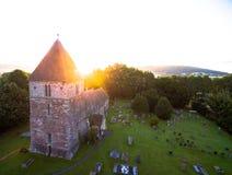 Над церковью в Великобритании Стоковое фото RF