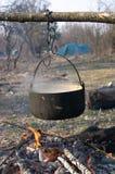 над чайником пожара Стоковое фото RF