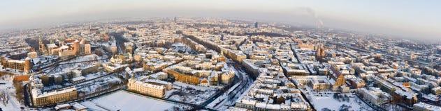 над krakow шл снег Стоковые Изображения RF